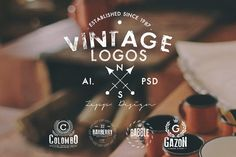 Check out Vintage Logos & Badges Set 4 by Zeppelin Graphics on Creative Market