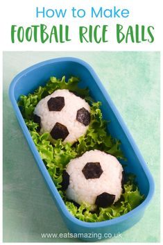 How to make easy football themed tuna recipe balls recipe - perfect for bento boxes and soccer themed party food Food Art For Kids, Cooking With Kids, Recipe Balls, Tuna Rice, Tuna Mayo, Tuna Recipes, Bento Box Lunch, Good Food