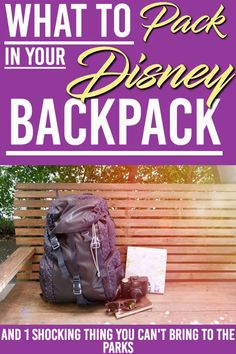 Headed to Disney World? Here is a list of the item you should have in your backpack for your day in Disney World and the 1 thing you can't bring. Here's What to Bring to Disney World Parks & One Thing You Can't Bring. Packing List For Disney, Disney World Packing, Disney On A Budget, Disney World Florida, Disney Vacation Planning, Disney World Parks, Disney World Vacation, Disney Cruise Line, Disney World Resorts