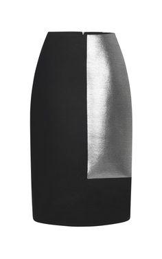 Shop Silver Frame Basic Pencil Skirt by Josh Goot for Preorder on Moda Operandi