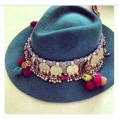 #placeoflittlebirds  #tribal #hattrimming #hats with a feature #pompoms be creative and add your signature touch #boho #bohochic #bohostyle always stumbling on hats and love them scattered around my shop #freepeople #freespirit #gypsygirl #gypsysoul #bondiroad #bondilife #beachliving  #inspirational
