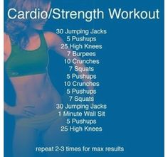 Cardio/ strength workout
