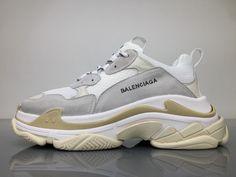 cf9f1e9fe990 Balenciaga Triple S 490671W06F19000 White Grey Shoes 1 Balenciaga Shoes