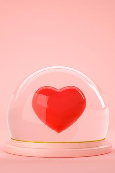 3d rendering of red heart inside glass ball globe on pink background by MegiasD. This stock photo is 6000px by 4500px. Ideal for any project that requires 3d rendering, red heart.