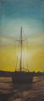 Fishing boat (Oil on Canvas)