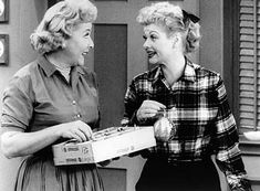 Lucy and Ethel. I Love Lucy.