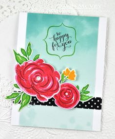 So Happy For You Card by Dawn McVey for Papertrey Ink (June 2014)