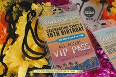 Coachella Themed Party, VIP birthday pass