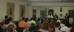 SMGE JALISCO.- 29.04.2014. Presentación del Trabajo de Ingreso del artista plástico Álvaro Cuevas, exposición titulada: HUELLAS AMOR FOSIS (escultura, pintura y grabado).