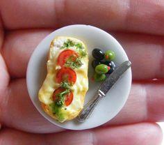 Mediterranean Lunch Miniature Food Ring - Miniature Food Jewelry