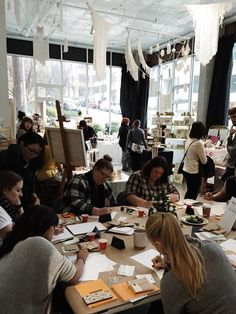 Recap: Holiday HoHoHo Pop-Up | Found + Gathered | Calligraphy Workshop by Eunligraphy