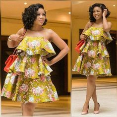 African women dress African print dress African fashion women midi dress Ankara dress ladies dress boho dress teared dress Made to order and shipped from Houston. Many other fabrics available African Fashion Ankara, Latest African Fashion Dresses, African Dresses For Women, African Print Dresses, African Print Fashion, African Attire, Nigerian Fashion, Africa Fashion, African Prints