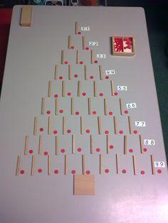 Kerstboom montessorimateriaal.