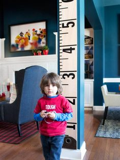 Make a Tailor's Tape Growth Chart - on HGTV