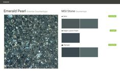 Emerald Pearl. Granite Countertops. Countertops. MSI Stone. Behr. Ralph Lauren Paint. Olympic.  Click the gray Visit button to see the matching paint names.