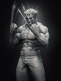 Wolverine Hi guys!) This model is based on the concept by Michael Turner. I did this character just because Wolverine is one of my favorite characters from Marvel. Marvel Comics Art, Marvel Heroes, Marvel Characters, Ms Marvel, Captain Marvel, Wolverine Art, Logan Wolverine, Logan Xmen, Comic Books Art