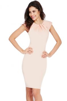 Midi Dress With Sleeves, Cap Sleeves, Neckline, Bodycon Dress, Formal Dresses, Fashion, Moda, Formal Gowns, La Mode