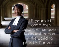 The World's Youngest Barrister, Gabrielle Turnquest Passed Bar At 17  Broke 600 Year Old Record in the U.K. | grrrls who run the world