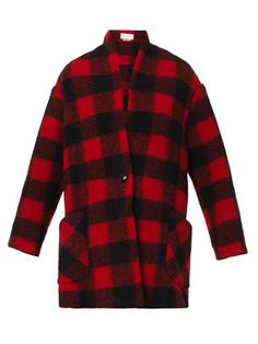 Gabrie check wool-blend coat | Isabel Marant Étoile | MATCHESF...