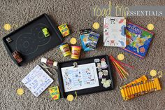 Essential items to pack for surviving a road trip with kids at Fresh Mommy.
