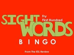 Play bingo with your students in style using these beautifully crafted bingo cards covering the first hundred of the Fry Instant Sight Words. This packet includes: - a set of 50 bingo cards for the first fifty words- a second set of 50 bingo cards for the remaining fifty words- caller cards for each set- bingo markersEnjoy!Dont forget to try:* Fry Sight Words Bingo - First Hundred* Fry Sight Words Bingo - Second Hundred* Fry Sight Words Bingo - Third Hundred* Fry Sight Words Bingo - Fourth…