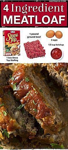 4 Ingredient Meatloaf Ahhhmazing Recipe In 2020 Beef Recipes Easy Quick Easy Meatloaf Recipe Easy Meatloaf