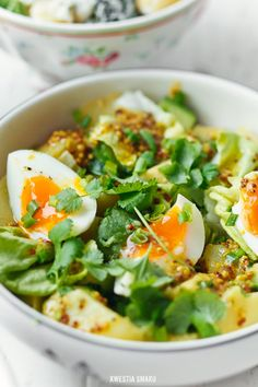 avocado, egg and french mustard potato salad