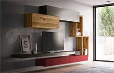 Living Room Decor, Living Spaces, Tv Wall Design, Media Wall, Led Panel, Tv Cabinets, New Homes, Shelves, Interior Design