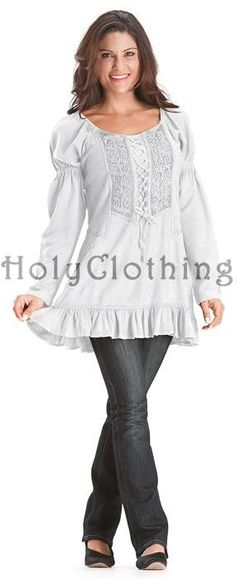 White Ivory Maya Medieval Maiden Velvet Puff Sleeve Bustier Top Blouse XL - XL / 1X - White - Shop by Color - Tops