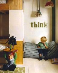 Love the idea of a reading nook...his new toddler room will be so big, I need creative ideas for different areas!
