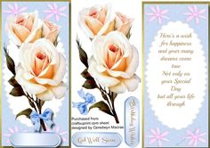 Lovely D,L With verse and Cream Roses | Craftsuprint