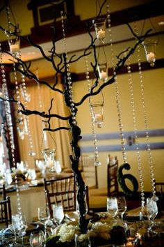 Table Number Tree Branch Centerpiece