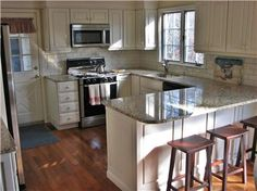 Updated kitchen with amenities from home in this Brewster vacation rental on Cape Cod.