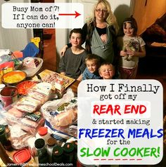 How I Finally Got Off My Rear End & Started Making FREEZER MEALS for the SLOW COOKER!!