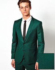 Selected Skinny Fit Suit in Dark Green