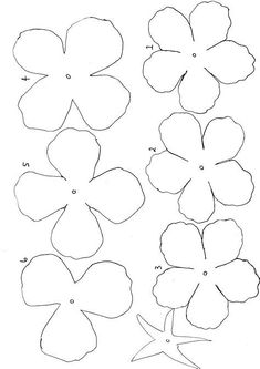 Image result for Easy Paper Flower Templates Felt Flower Template, Paper Flower Patterns, Paper Flowers Craft, Paper Flower Tutorial, Giant Paper Flowers, Felt Flowers, Flower Crafts, Fabric Flowers, Free Printable Flower Templates