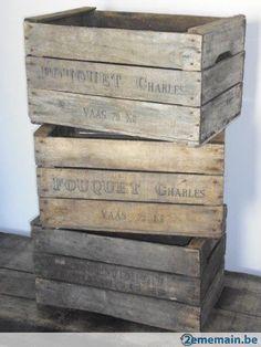 Caisse en bois à pommes, poires, fruit - Livraison Europe OK - A vendre