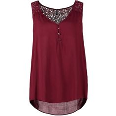 NAF NAF Blouse bourgogne (€22) ❤ liked on Polyvore featuring tops, shirts, tank tops, blouses, bordeaux, v neck collared shirt, v neck top, collared tank top, collared shirt and viscose shirt