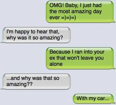 Hah, gosh I WISH I hit her with my car!