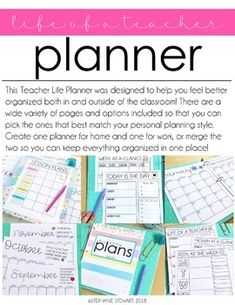 TEACHER PLANNER | TEACHER BINDER EDITABLE