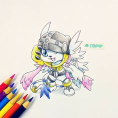 Gatomon to Angewomon Digimon 02, Digimon Tamers, Digimon Frontier, Digimon Tattoo, Chibi, Gatomon, Onesies, Digimon Digital Monsters, Digimon Adventure Tri