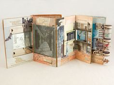 Life Stories of Dying Penitents. It is a wonderful art form, combining book art and assemblage (not to mention collage, painting, and whatever else has been employed here). CAWeStruck