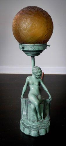 1920's Art Deco FRANKART Style Sitting Nymph Lamp | eBay
