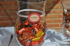 Fall Shower Candy Bar Hersheys