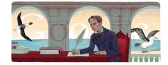 The French poet, art critic and translator, Charles Baudelaire's 192nd birthday