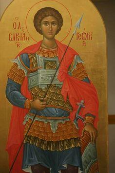 foto van N Theologhia Baba. Byzantine Icons, Byzantine Art, Religious Icons, Religious Art, Icon Collection, Blessed Virgin Mary, Art Icon, Saint George, Orthodox Icons