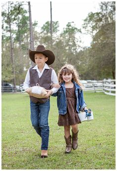 Country Wedding...Ring Bearer & Flower Girl  Flower Girl rocking  http://www.countryoutfitter.com/products/29426-kids-little-concho-boots-distressed