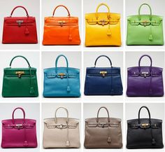 HERME'S BIRKIN BAG RAINBOW