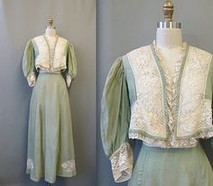 Vintage Edwardian Daphne Shirt Waist Walking Suit by mysterymister, $350.00