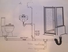 Stylish Plumbing Drain Piping Diagram For Bathroom Home Improvement For Bathroom…